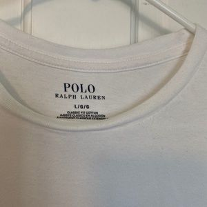 Polo by Ralph Lauren Shirts - Polo White Tee - Men's T-Shirt - Size is Large
